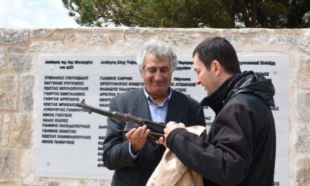 Αποκαλυπτήρια του Μνημείου για τους μαχητές του ΔΣΕ στον Ταΰγετο