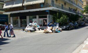 Πάνω απο 500 τόνοι σκουπίδια στους δρόμους της Καλαμάτας!
