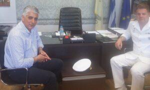 Συνάντηση δημάρχου Πύλου-Νέστορος με τον νέο Λιμενάρχη Καλαμάτας