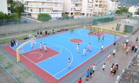 Αγωνιστικά εγκαίνια για τα ανακαινισμένα γήπεδα basket