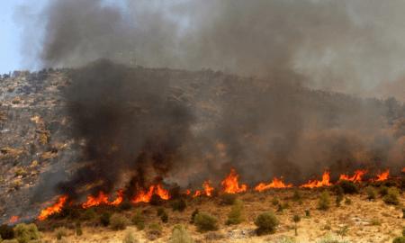 Σε εξέλιξη φωτιά στη Μεταξάδα Πύλου