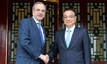 Με τον πρωθυπουργό της Κίνας συναντήθηκε ο Αντώνης Σαμαράς