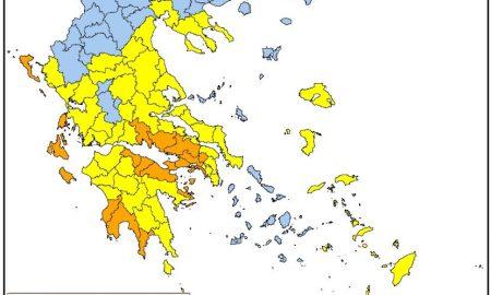 Πολύ υψηλός κίνδυνος πυρκαγιάς για τη Μεσσηνία