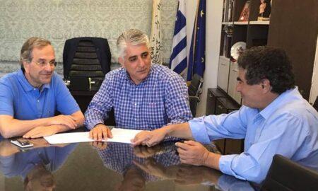 Επίσκεψη του Α.Σαμαρά στο Δημαρχείο της Πύλου
