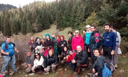 Κοινή πεζοπορία ορειβατικών συλλόγων από την Ελάτη έως Λιμποβίσι