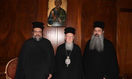 Οι Μητροπολίτες Μεσσηνίας Χρυσόστομος και Σταγών και Μετεώρων Θεόκλητος στο Οικουμενικό Πατριαρχείο
