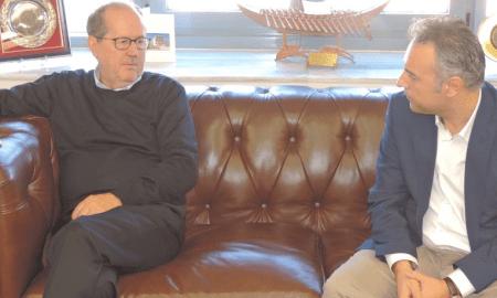 Ο Βαγγέλης Ξυγκώρος στο Δημαρχείο Καλαμάτας- Συνάντηση με Νίκα