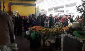 Μαθητές του 5ου ΓΕΛ Καλαμάτας στην Κεντρική Αγορά