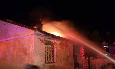 Κάηκαν 2 σπίτια τα ξημερώματα στο Πλατύ! Με ελαφρά εγκαύματα ένας από τους ιδιοκτήτες