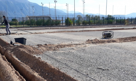 Γήπεδο πρώην Σφαγείων: Μπαίνει το σύστημα αποστράγγισης του τάπητα
