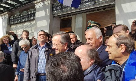 «Παρών» Σαμαρά στο συλλαλητήριο της Αθήνας – VIDEO