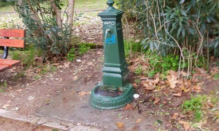 Χαλασμένες και πάλι οι βρύσες στο Πάρκο του ΟΣΕ