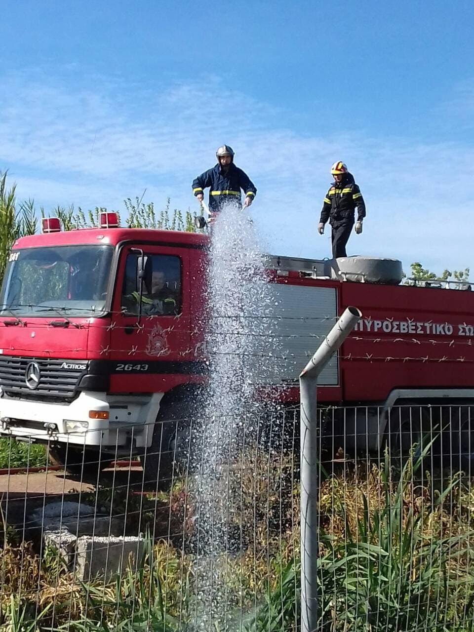 Άσκηση της Πυροσβεστικής στις εγκαταστάσεις της ΑΓΑΝ στη Μεσσήνη