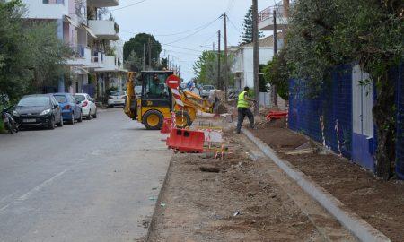 Ανάπλαση Αύρας: Με εντατικούς ρυθμούς συνεχίζονται οι εργασίες- Σε 2 μήνες έτοιμο το έργο