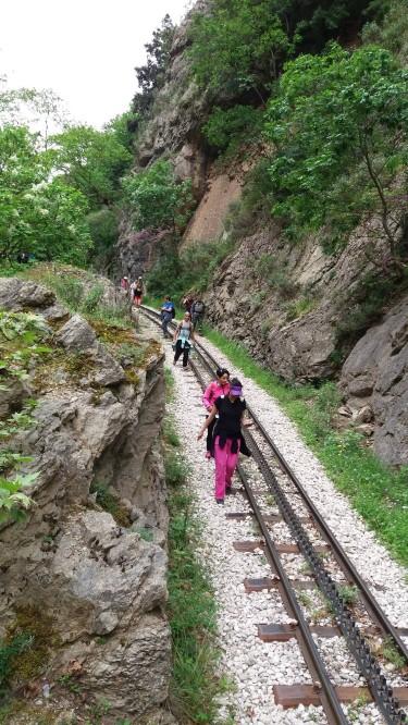Ευκλής: Εξόρμηση στο Φαράγγι του Βουραϊκού και πεζοπορία στις ράγες του Οδοντωτού
