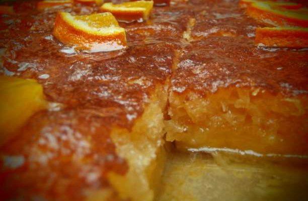 Σπιτική πορτοκαλόπιτα με φύλλο κρούστας