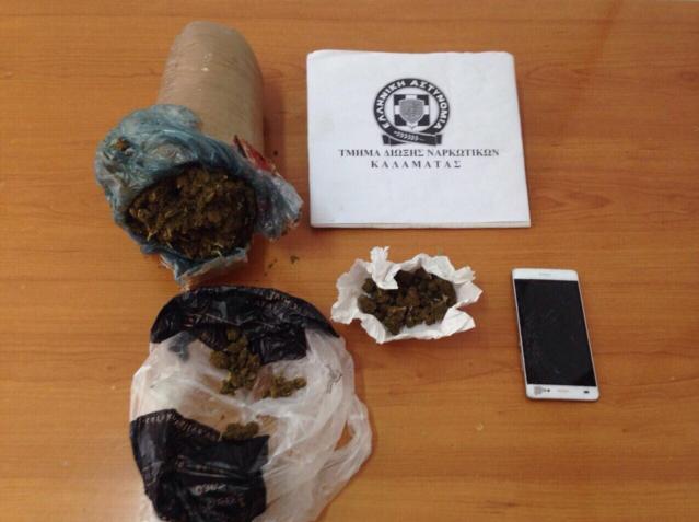 27χρονος συνελήφθη με χασίς σε χωριό της Καλαμάτας