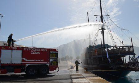 Άσκηση αντιμετώπισης ναυτικού ατυχήματος και καταπολέμησης θαλάσσιας ρύπανσης στο Λιμάνι Καλαμάτας