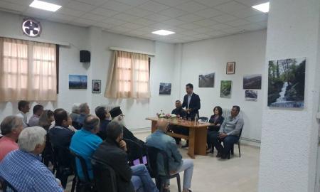 Συνάντηση Χαρίτση με τους προέδρους κοινοτήτων στην Αλαγονία
