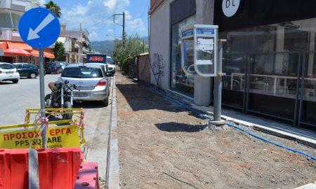 Στις 10 Ιουλίου ολοκληρώνεται το πεζοδρόμιο στην Αύρας