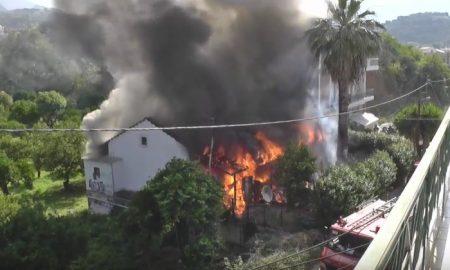 Βίντεο-ντοκουμέντο από τα πρώτα λεπτά της φωτιάς που έκαψε το σπίτι της οικογένειας Γεωργόπουλου
