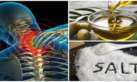 Ανακατέψτε λίγο αλάτι κι ελαιόλαδο και δεν θα αισθανθείτε πόνο για τα επόμενα 5 χρόνια!