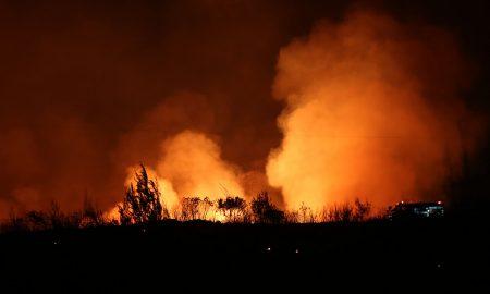 Σε εξέλιξη φωτιά στο Οίτυλο Λακωνίας