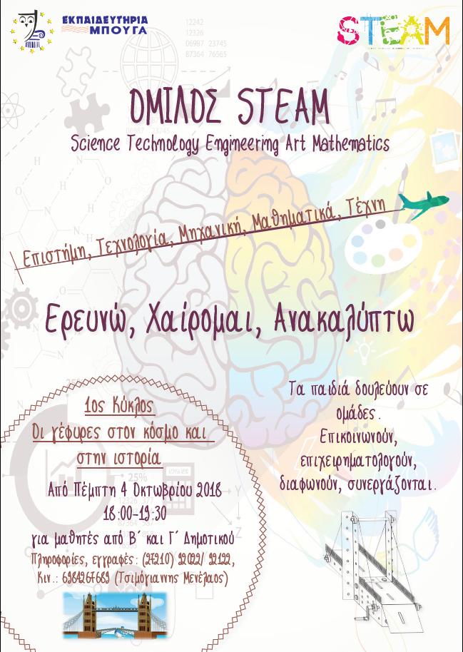 Εκπαιδευτήρια Μπουγά: Ξεκίνησε το πρόγραμμα STEAM για τους μαθητές