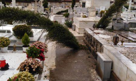 """Ο Ζορμπάς """"σάρωσε"""" και το νεκροταφείο της Καλαμάτας"""