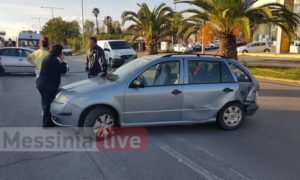Tροχαίο στη Νέα Είσοδο Καλαμάτας με τραυματισμό οδηγού