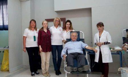 Η εθελοντική αιμοδοσία των καθηγητών της Δευτεροβάθμιας απέφερε 31 φιάλες αίματος