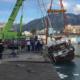 Λιμάνι Καλαμάτας: Mεγάλη επιχείρηση ανέλκυσης του βυθισμένου ιστιοφόρου