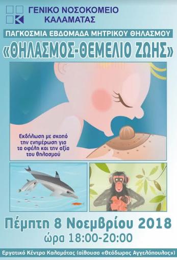 Νοσοκομείο Καλαμάτας: Αυτές είναι οι δράσεις για την Παγκόσμια Εβδομάδα Μητρικού Θηλασμού