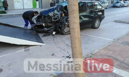 Τροχαίο στη Φαρών: Η τρελή πορεία του ΙΧ και ο σοβαρός τραυματισμός του οδηγού