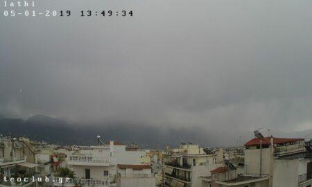 Νιφάδες χιονιού μαζί με βροχή τώρα στην Καλαμάτα!