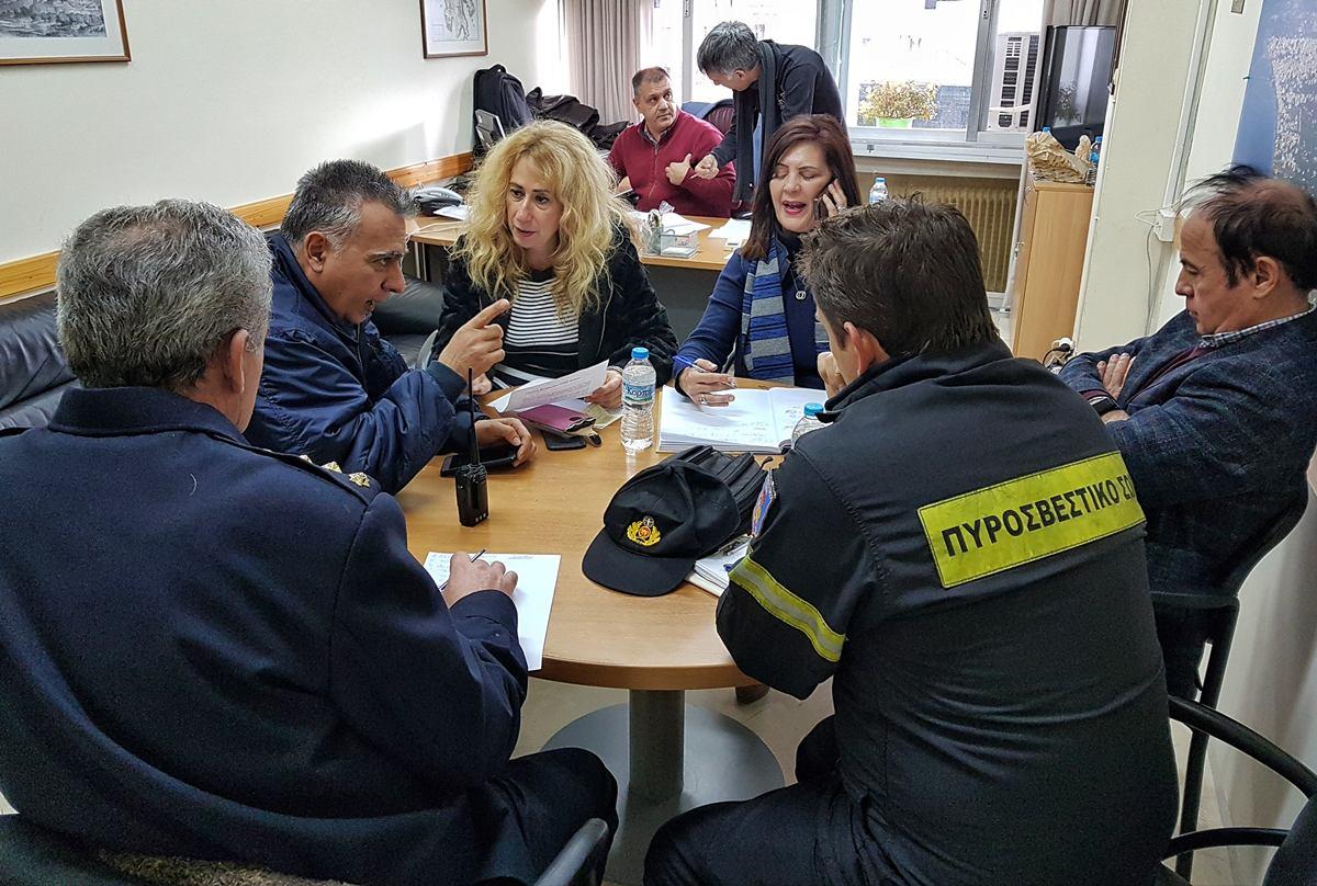 ΠΕ Μεσσηνίας: Σε επιφυλακή μέχρι να εξασθενίσουν τα έντονα καιρικά φαινόμενα