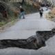 Tραγική η κατάσταση στην Αλαγονία από τις καθιζήσεις των δρόμων