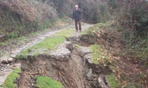 Κινδυνεύουν σπίτια από τις καθιζήσεις εδάφους στην περιοχή της Αλαγονίας