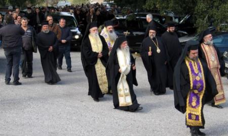 Η Εξόδιος Ακολουθία του πρ. Ηγουμένου της Μονής Βουλκάνου