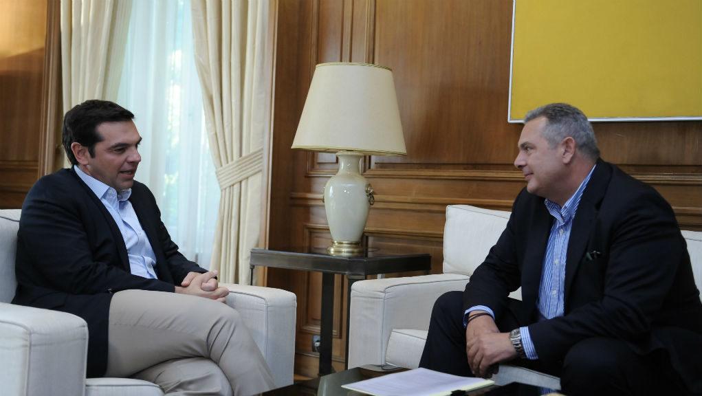 Ραντεβού Τσίπρα – Καμμένου: Σήμερα στις 12:00 θα δώσει συνέντευξη ο πρόεδρος των ΑΝΕΛ