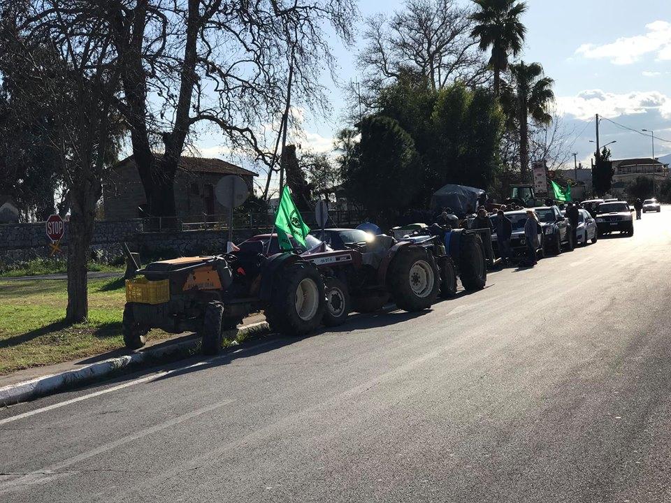 Αγρότες Μεσσηνίας: Πρώτο μπλόκο με κλείσιμο της Εθνικής οδού στη Θουρία για 2 ώρες