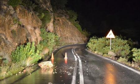 Οδηγός τραυματίστηκε από πτώση πέτρας στην Ε.Ο. Καλαμάτας-Σπάρτης!
