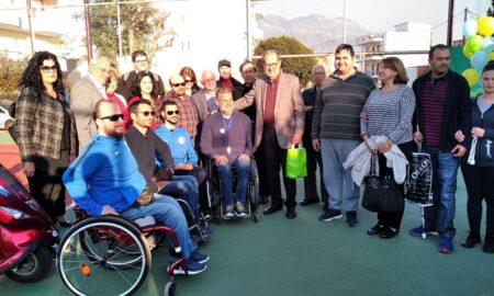 Εγκαινιάστηκαν οι εγκαταστάσεις του γηπέδου τένις για ΑμεΑ