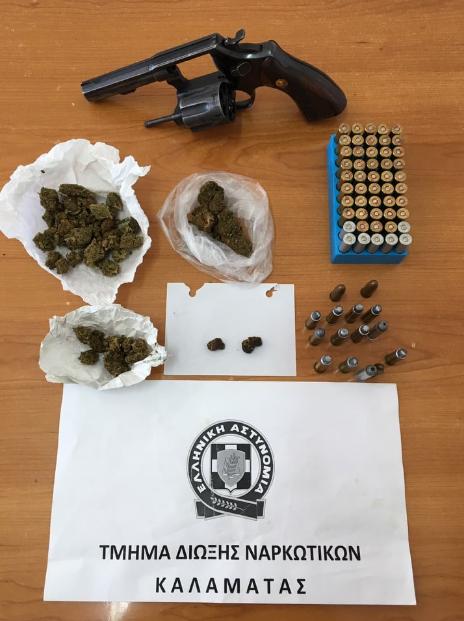 Συνελήφθη 59χρονος στην Κορώνη με όπλα και χασίς