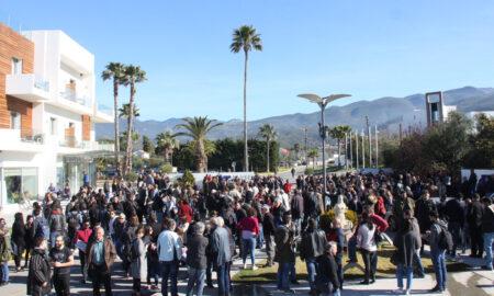 37o συνέδριο ΓΣΕΕ: Νέο συλλαλητήριο το πρωί έξω από το ξενοδοχείο Elite