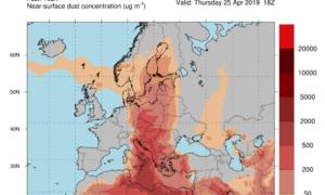 """Η αφρικανική σκόνη θα """"πνίξει"""" και τη Μεσσηνία από τη Μ.Τρίτη"""