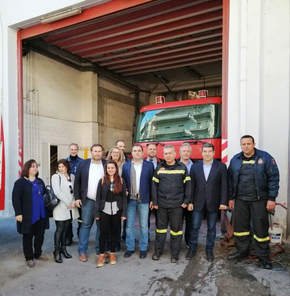 Βασιλόπουλος: Επίσκεψη σε Πυροσβεστική και ΔΙΟΚΛΗ