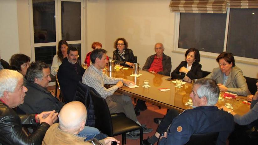 Η υποψήφια ευρωβουλευτής ΣΥΡΙΖΑ Άννα Παπαδημητρίου-Τσάτσου στην Καλαμάτα