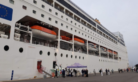 Το πρώτο κρουαζιερόπλοιο της χρονιάς στο Λιμάνι Καλαμάτας