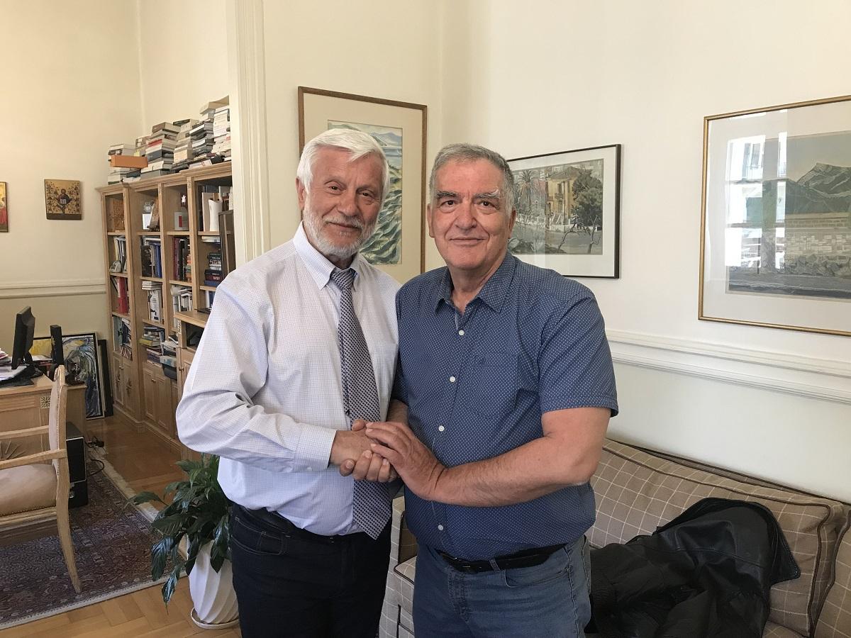 """O Γιώργος Παπασταματάκης με τη """"Νέα Πελοπόννησο"""" στην Αρκαδία"""